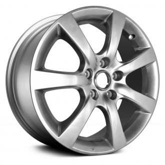 2005 infiniti g35 replacement factory wheels rims carid 2010 Infiniti G35 Coupe replace 17x7 7 spoke hyper silver alloy factory wheel remanufactured