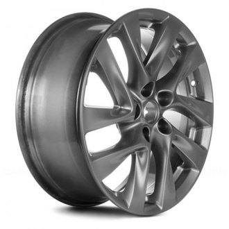 "Replace® - 18"" Remanufactured 10 Spokes Medium Smoked Hyper Silver Factory Alloy Wheel"
