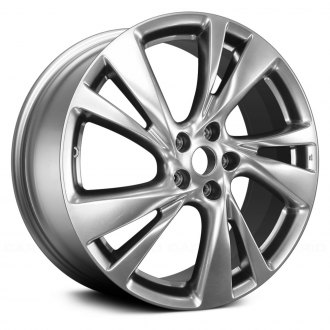 "Replace® - 20"" Remanufactured 5 V Spokes Medium Hyper Silver Factory Alloy Wheel"