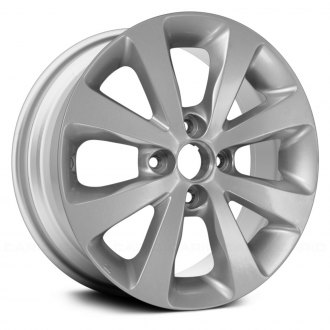 "Replace® - 15"" Remanufactured 8 Spokes All Painted Silver Factory Alloy Wheel"