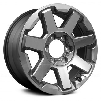 6d66eb18780 Replace® - 17x7 7-Spoke Machined and Medium Charcoal Metallic Alloy Factory  Wheel (