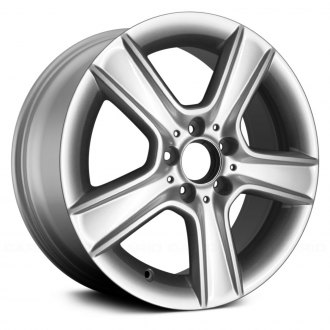 2011 mercedes c class replacement factory wheels rims carid 2011 C300 4MATIC replace 17 5 spoke all painted silver alloy factory wheel remanufactured