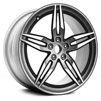 2018 audi a5 replacement factory wheels rims carid 2016 Camaro Truck replace 19x8 5 5 double spoke all painted bright silver metallic alloy