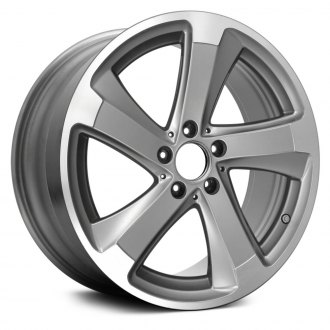 2014 mercedes sl class replacement factory wheels rims carid 2016 Mercedes BR replace 18x8 5 5 spoke machined and medium silver alloy factory wheel