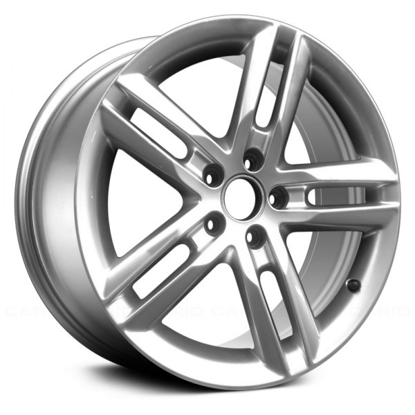 "Replace® - 17"" Remanufactured 5 Double Spokes Light Hyper Silver Factory Alloy Wheel"