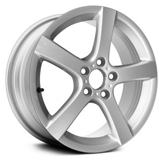 "Replace® - 17"" Remanufactured 5 Spokes All Painted Bright Silver Factory Alloy Wheel"
