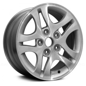 2001 honda accord replacement factory wheels rims carid 2014 Honda Civic Europe replace 15x6 5 double spoke machined and silver alloy factory wheel remanufactured