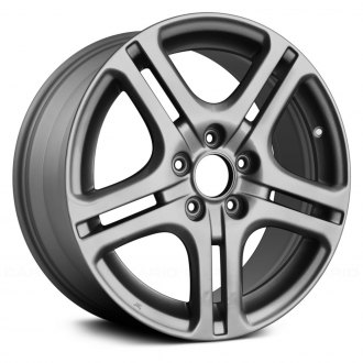 "Replace® - 17"" Remanufactured 5 Double Spokes Medium Gray Factory Alloy Wheel"