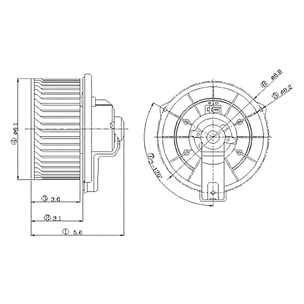 TYC 700012 Replacement Blower Assembly