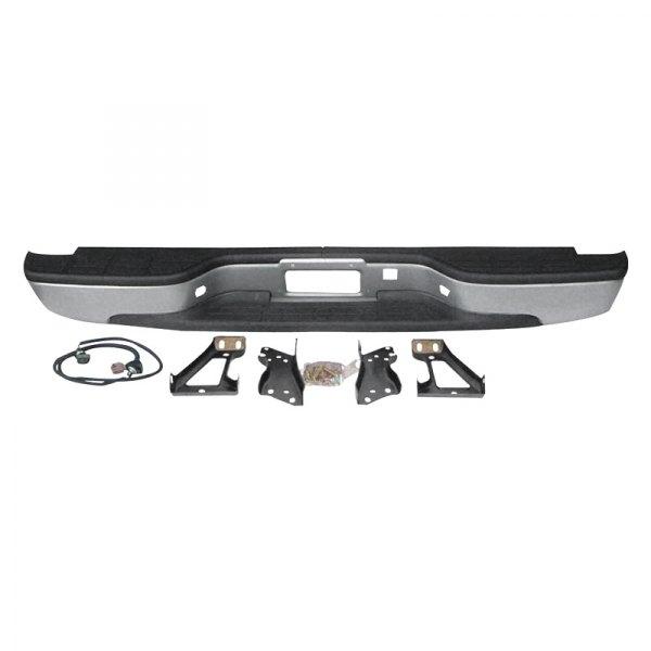 New Rear Step Bumper Black Steel For GMC Sierra Chevrolet Silverado 1999-2006