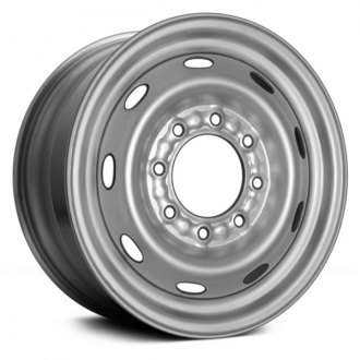 "Replace® - 16"" Remanufactured 9 Holes Silver Factory Steel Wheel"