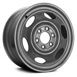 "Replace® - 15"" Remanufactured 6 Holes Silver Factory Steel Wheel"
