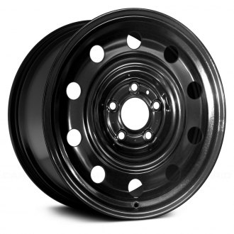 "Replace® - 16"" 10 Vents Black Factory Steel Wheel"