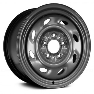 "Replace® - 15"" Remanufactured 8 Holes Black Factory Steel Wheel"