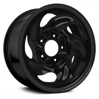 "Replace® - 16"" Remanufactured 5 Holes Black Factory Steel Wheel"