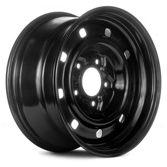 "Replace® - 16"" Remanufactured 9 Holes Black Factory Steel Wheel"