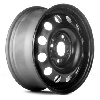"Replace® - 14"" Replica 12 Holes Black Factory Steel Wheel"