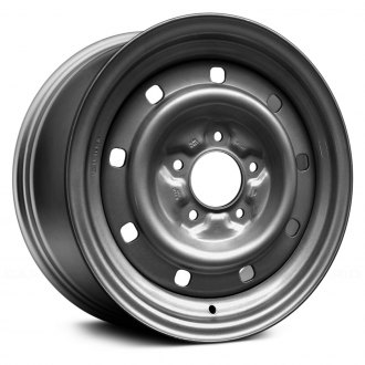 "Replace® - 16"" Remanufactured 9 Holes Argent Factory Steel Wheel"
