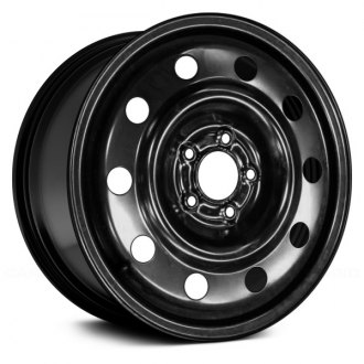 "Replace® - 17"" Remanufactured 10 Round Vents Black Factory Steel Wheel"