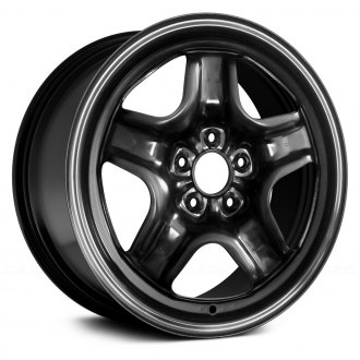 "Replace® - 16"" Remanufactured 5 Spokes Black Factory Steel Wheel"