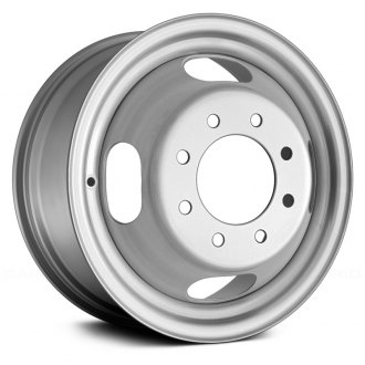 "Replace® - 16"" Replica 4 Oval Vents Dull Silver Factory Steel Wheel"