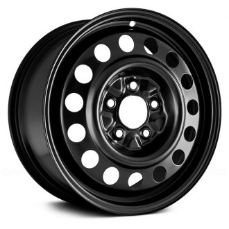 "Replace® - 16"" Remanufactured 15 Round Vents Black Factory Steel Wheel"