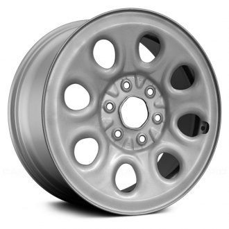 "Replace® - 17"" 8 Round Holes Silver Factory Steel Wheel"