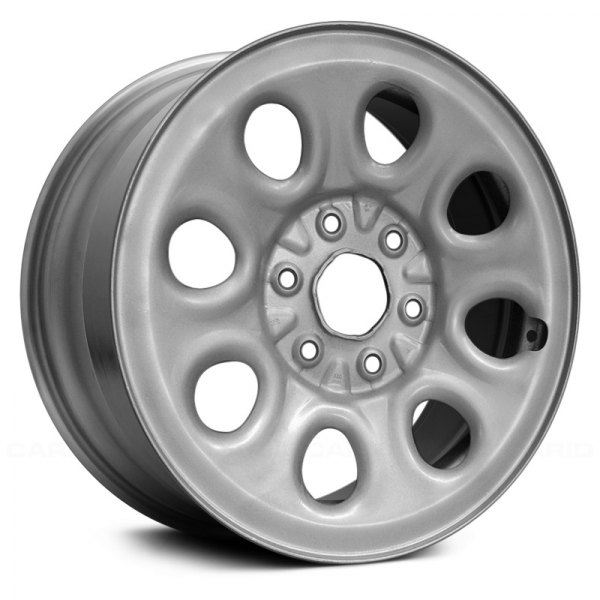 Replace® - 17 x 7.5 8 Round-Hole Silver Steel Factory Wheel (Replica)