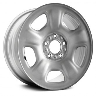 "Replace® - 16"" Remanufactured 5 Wide Spokes Silver Factory Steel Wheel"