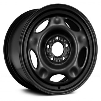 "Replace® - 16"" Remanufactured 5 Wide Spokes Black Factory Steel Wheel"
