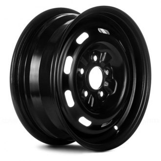 "Replace® - 15"" Remanufactured 9 Slots Black Factory Steel Wheel"