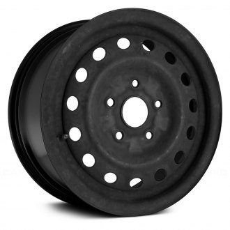 "Replace® - 14"" Remanufactured 15 Vents Black Factory Steel Wheel"