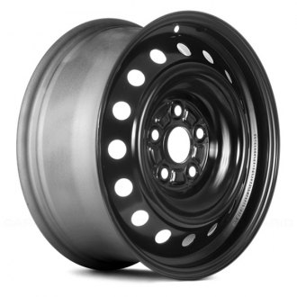 "Replace® - 16"" Replica 16 Vents Black Factory Steel Wheel"