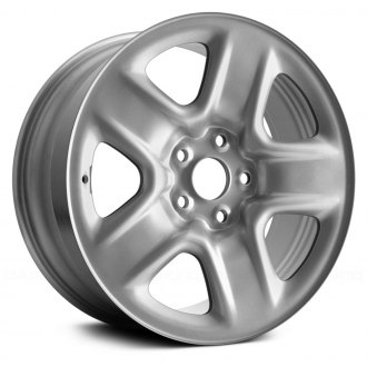 "Replace® - 17"" Remanufactured 5 Spokes Silver Factory Steel Wheel"