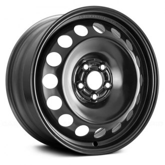"Replace® - 16"" 16 Round Holes Black Factory Steel Wheel"