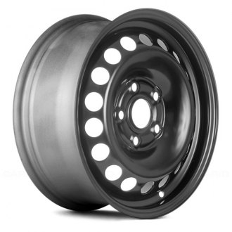 "Replace® - 15"" Replica 18 Holes Black Factory Steel Wheel"