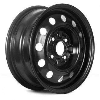 "Replace® - 15"" Replica 15 Vents Black Factory Steel Wheel"