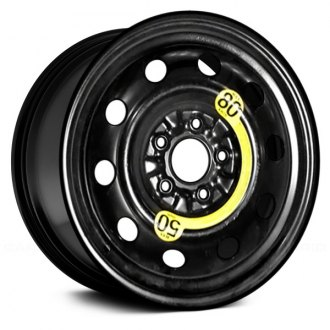 "Replace® - 16"" Remanufactured All Painted Black Factory Steel Wheel"