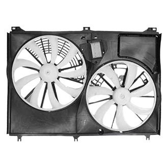 Replace® - Dual Radiator and Condenser Fan Assembly