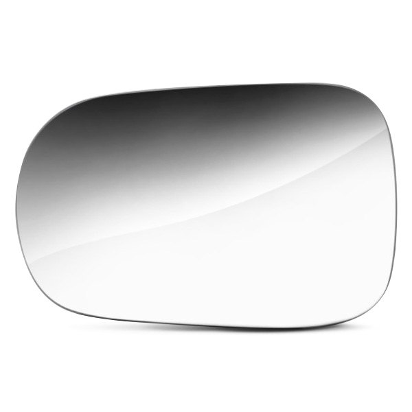 REPLACEMENT-MIRROR-GLASS +ADHESIVE PAD~MANUAL LEFT DRIVER SIDE SQUARE SHAPE