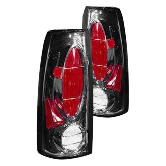 Replace® - Black/Red Euro Tail Lights