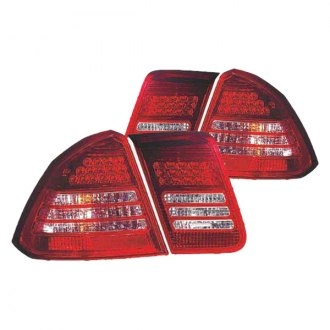 Replace® - Driver and Passenger Side Chrome LED Tail Lights