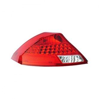 Replace® - Driver Side Chrome/Red LED Tail Light Lens and Housing
