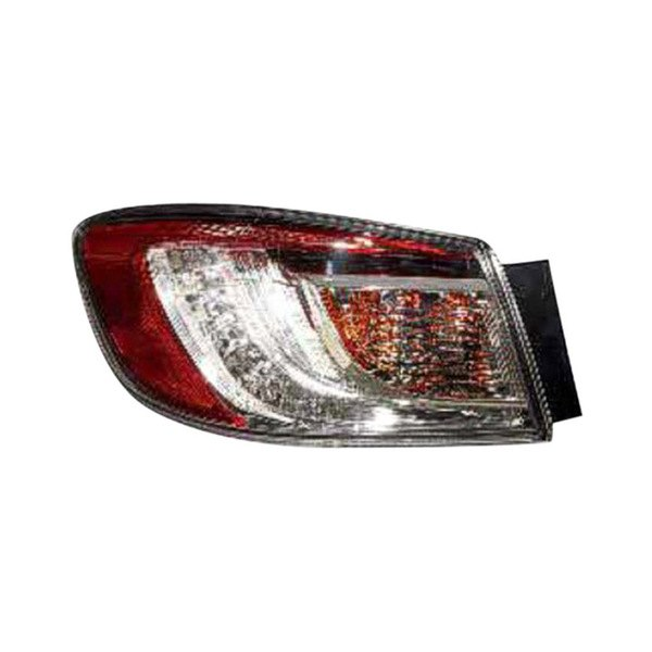 Replace® - Driver Side Outer Chrome/Red LED Tail Light