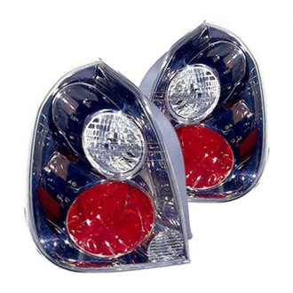 Replace® - Red/Clear With Gumetal Bezel Tail Lights