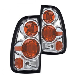 Replace® - Chrome/Red Euro Tail Lights