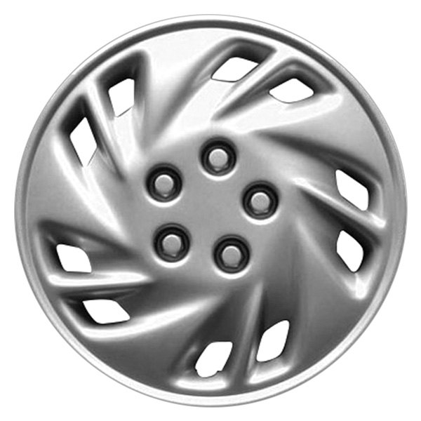 "14"" Remanufactured 10-Slot Silver Wheel Cover"