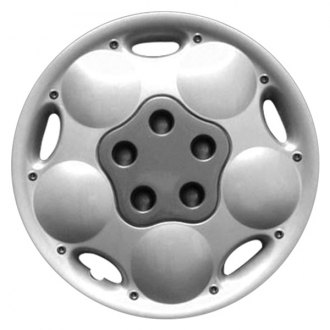 "Replace® - 14"" Remanufactured 5 Small Holes Silver Wheel Cover"