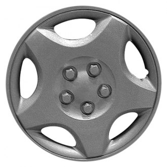 "Replace® - 14"" Remanufactured 5 Spokes Silver Wheel Cover"