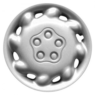 "Replace® - 14"" 8 Angled Holes Silver Wheel Cover"